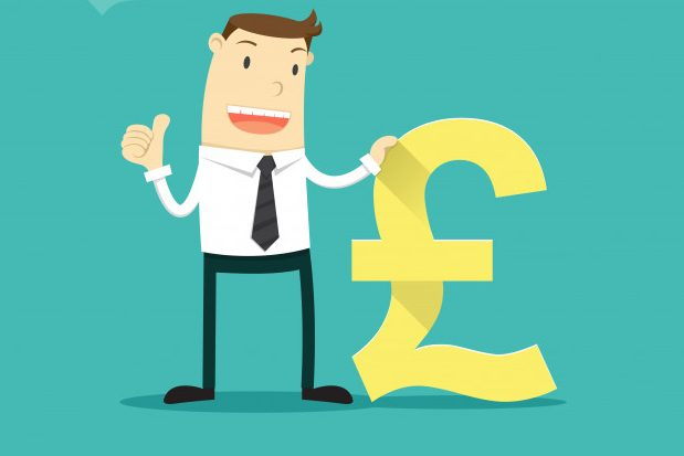 Illustration of man with a pound sign