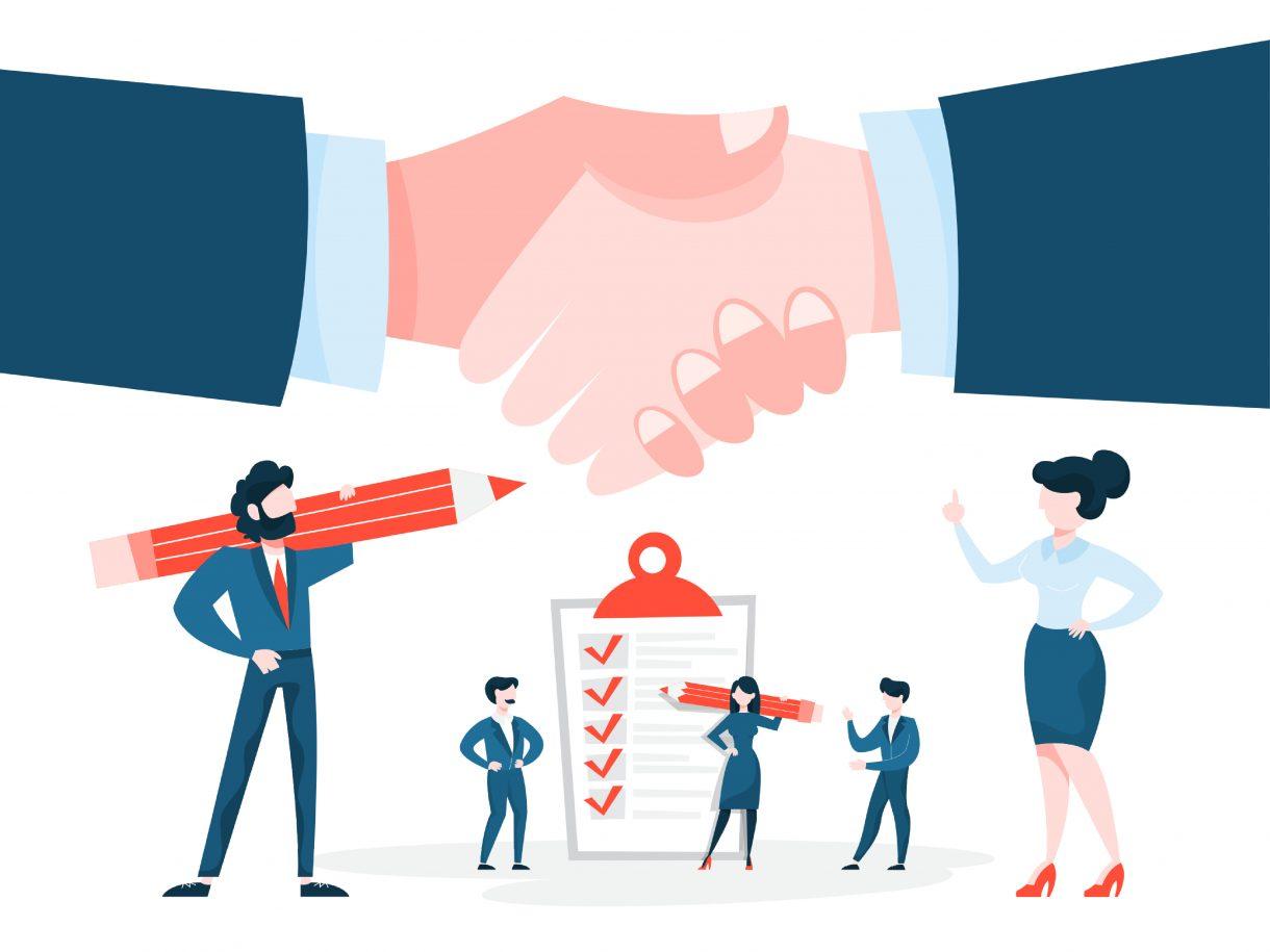 Join Find support service illustration of handshake